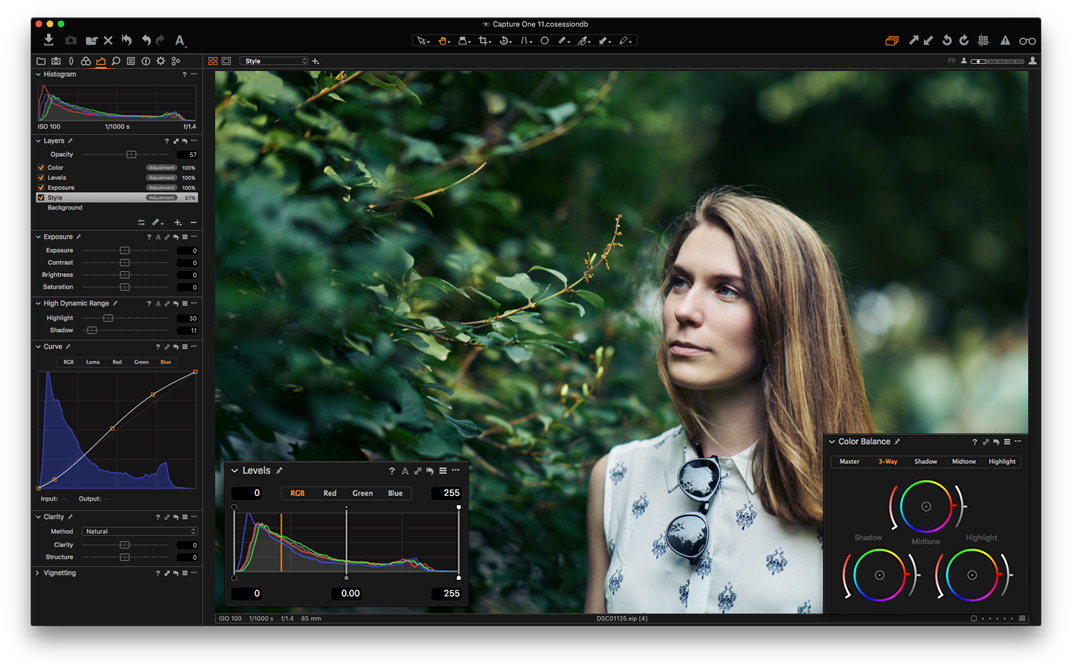 Capture One Alles Wichtige in Ebenen editieren.