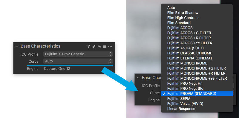 Capture One Fuji Film Simulationen