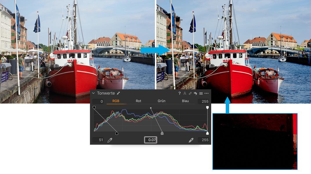 Capture One Luminanzbereichsmasken Ebenen